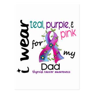 Thyroid Cancer I Wear Ribbon For My Dad 43 Postcard