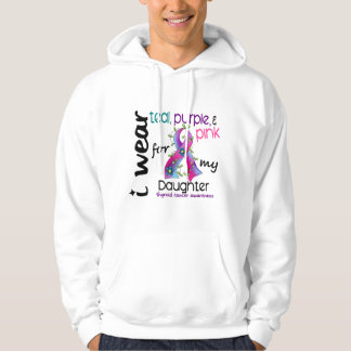 Thyroid Cancer I Wear Ribbon For My Daughter 43 Hooded Pullover