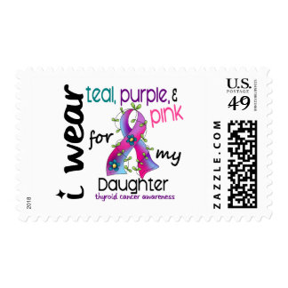 Thyroid Cancer I Wear Ribbon For My Daughter 43 Stamp