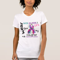 Thyroid Cancer I Wear Ribbon For My Daughter 43 T-Shirt