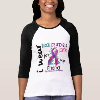 Thyroid Cancer I Wear Ribbon For My Friend 43 T-Shirt
