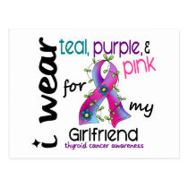 Thyroid Cancer I Wear Ribbon For My Girlfriend 43 Postcard