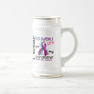 Thyroid Cancer I Wear Ribbon For My Grandfather 43 Coffee Mug