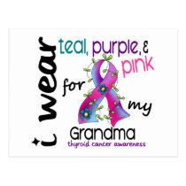 Thyroid Cancer I Wear Ribbon For My Grandma 43 Postcard