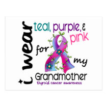 Thyroid Cancer I Wear Ribbon For My Grandmother 43 Postcard