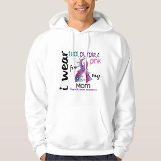 Thyroid Cancer I Wear Ribbon For My Mom 43 Sweatshirt