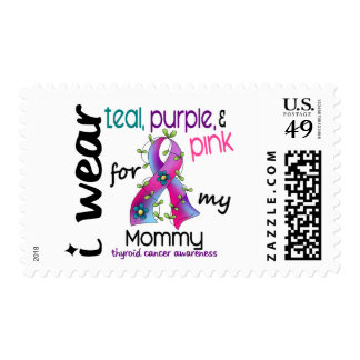 Thyroid Cancer I Wear Ribbon For My Mommy 43 Stamps