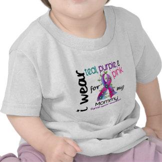 Thyroid Cancer I Wear Ribbon For My Mommy 43 T-shirts