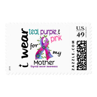 Thyroid Cancer I Wear Ribbon For My Mother 43 Stamps