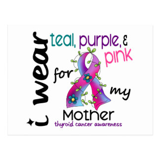 Thyroid Cancer I Wear Ribbon For My Mother 43 Postcard
