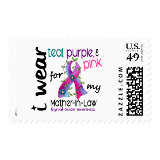 Thyroid Cancer I Wear Ribbon For My Mother-In-Law Stamps