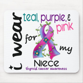 Thyroid Cancer I Wear Ribbon For My Niece 43 Mouse Pad