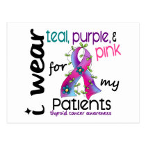 Thyroid Cancer I Wear Ribbon For My Patients 43 Postcard