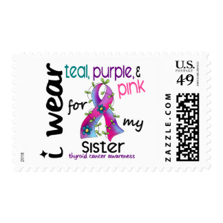 Thyroid Cancer I Wear Ribbon For My Sister 43 Postage
