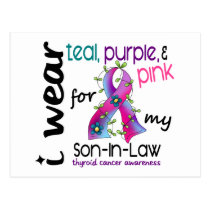 Thyroid Cancer I Wear Ribbon For My Son-In-Law 43 Postcard