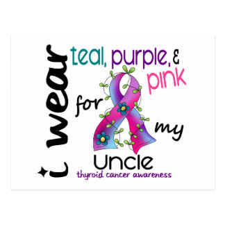 Thyroid Cancer I Wear Ribbon For My Uncle 43 Postcard