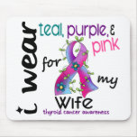 Thyroid Cancer I Wear Ribbon For My Wife 43 Mouse Pad
