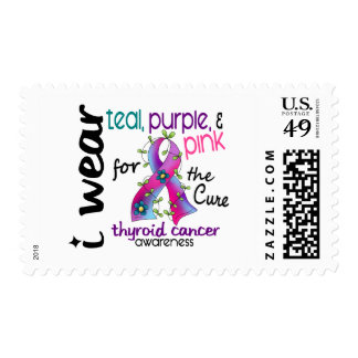 Thyroid Cancer I Wear Ribbon For The Cure 43 Postage