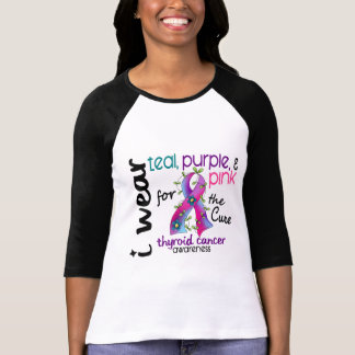 Thyroid Cancer I Wear Ribbon For The Cure 43 T-Shirt