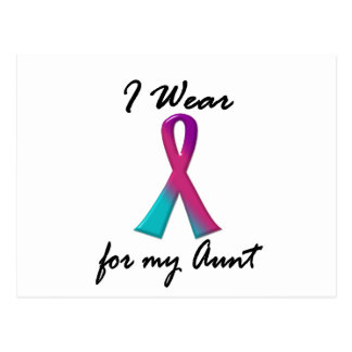 Thyroid Cancer I WEAR THYROID RIBBON 1 Aunt Postcard