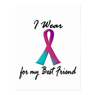 Thyroid Cancer I WEAR THYROID RIBBON 1 Best Friend Postcard