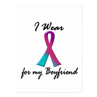 Thyroid Cancer I WEAR THYROID RIBBON 1 Boyfriend Postcard