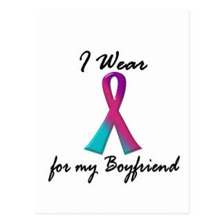 Thyroid Cancer I WEAR THYROID RIBBON 1 Boyfriend Postcard