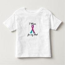 Thyroid Cancer I WEAR THYROID RIBBON 1 Dad Toddler T-shirt