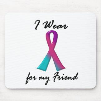 Thyroid Cancer I WEAR THYROID RIBBON 1 Friend Mouse Pad