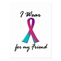 Thyroid Cancer I WEAR THYROID RIBBON 1 Friend Postcard
