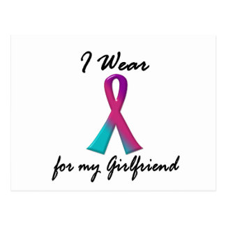 Thyroid Cancer I WEAR THYROID RIBBON 1 Girlfriend Postcard