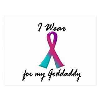 Thyroid Cancer I WEAR THYROID RIBBON 1 Goddaddy Postcard