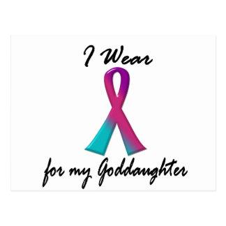 Thyroid Cancer I WEAR THYROID RIBBON 1 Goddaughter Postcard