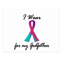 Thyroid Cancer I WEAR THYROID RIBBON 1 Godfather Postcard