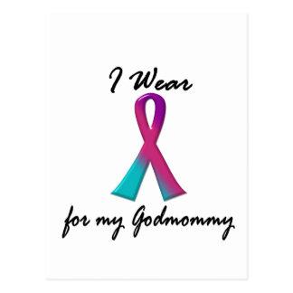 Thyroid Cancer I WEAR THYROID RIBBON 1 Godmommy Postcard