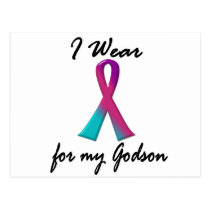 Thyroid Cancer I WEAR THYROID RIBBON 1 Godson Postcard