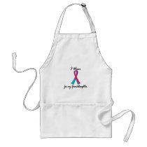 Thyroid Cancer I WEAR THYROID RIBBON 1 Granddaught Adult Apron