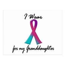 Thyroid Cancer I WEAR THYROID RIBBON 1 Granddaught Postcard