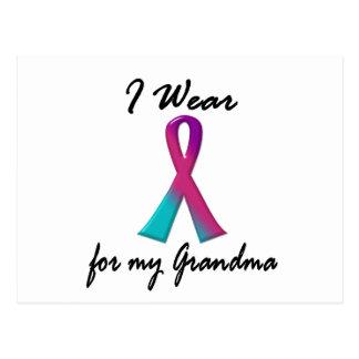 Thyroid Cancer I WEAR THYROID RIBBON 1 Grandma Postcard
