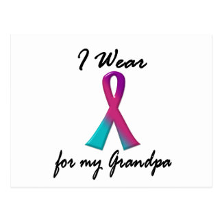 Thyroid Cancer I WEAR THYROID RIBBON 1 Grandpa Postcard