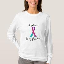 Thyroid Cancer I WEAR THYROID RIBBON 1 Grandson T-Shirt
