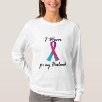 Thyroid Cancer I WEAR THYROID RIBBON 1 Husband T-Shirt