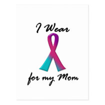 Thyroid Cancer I WEAR THYROID RIBBON 1 Mom Postcard