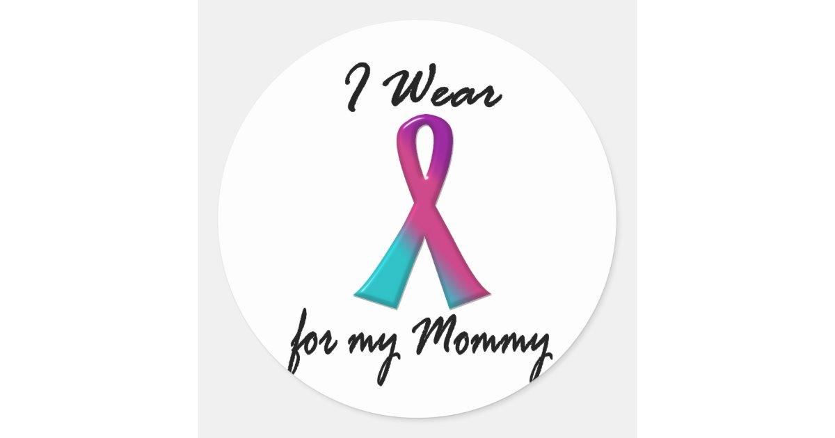 Thyroid Cancer I Wear Thyroid Ribbon 1 Mommy Classic