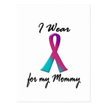 Thyroid Cancer I WEAR THYROID RIBBON 1 Mommy Postcard