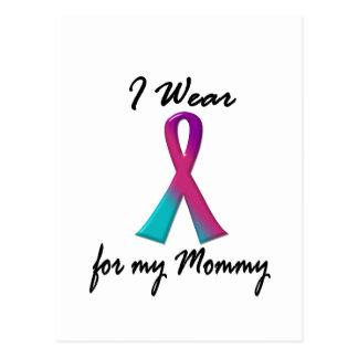 Thyroid Cancer I WEAR THYROID RIBBON 1 Mommy Postcard