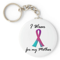 Thyroid Cancer I WEAR THYROID RIBBON 1 Mother Keychain