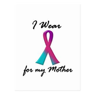 Thyroid Cancer I WEAR THYROID RIBBON 1 Mother Postcard