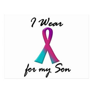Thyroid Cancer I WEAR THYROID RIBBON 1 Son Postcard