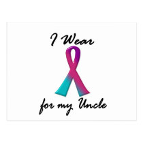 Thyroid Cancer I WEAR THYROID RIBBON 1 Uncle Postcard